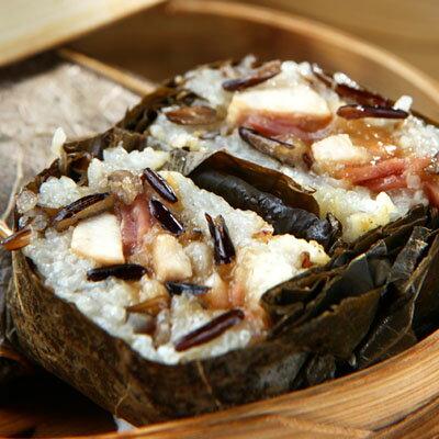蘋果粽子評比得獎~港點大師~ 港式茶點~荷香野米珍珠雞 ^(2顆^)~選用美國 野米, 玫