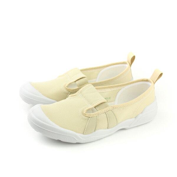 Moonstar  網布 室內鞋 米色 女鞋 no044