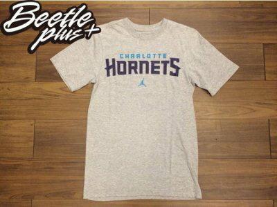 BEETLE NIKE JORDAN TEE CHARLOTTE HORNETS NBA 黃蜂 灰 紫綠 文字 短T - 限時優惠好康折扣