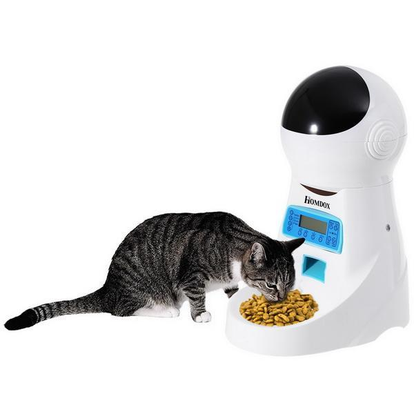 Automatic Pet Feeder Voice Recorder Timer Programmable Food Dispenser 5