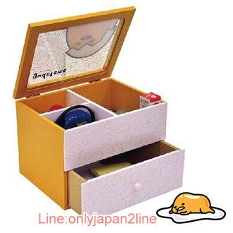 【真愛日本】17031700004 透明掀蓋抽屜珠寶盒-GU 三麗鷗家族 蛋黃哥 Gudetama 收納盒 收納櫃