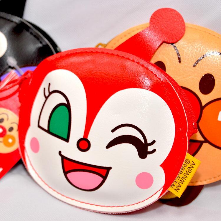 麵包超人 紅精靈 拉錬小錢包 合成皮革 日本製 正版商品