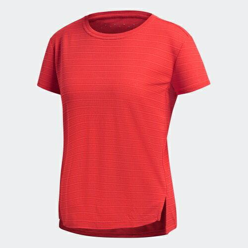 ADIDASFreeliftChill女裝上衣短袖訓練慢跑健身排汗舒適紅【運動世界】D93121