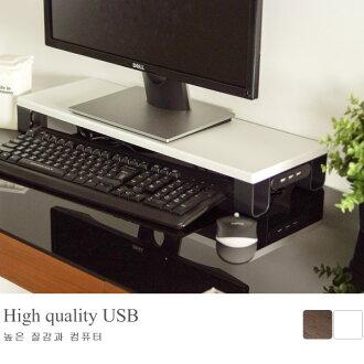 電腦桌 螢幕架【I0201】防潑水鐵腳配色USB螢幕架(兩色) MIT台灣製 完美主義