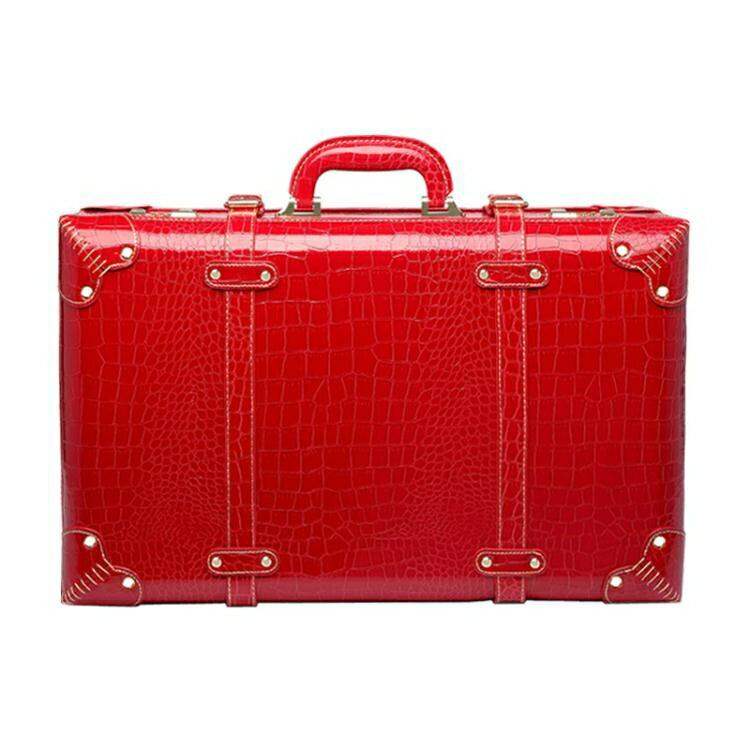 紅色結婚箱子陪嫁箱皮箱新娘嫁妝箱結婚行李箱婚慶官箱密碼手提箱 林之舍家居
