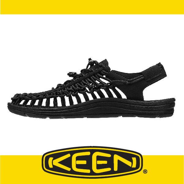 萬特戶外運動-美國KEEN 戶外編織涼鞋 UNEEK 2016春夏 男款 黑色 163-1015537