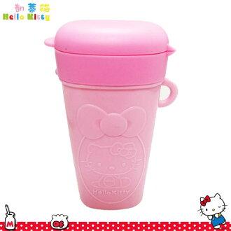 Hello Kitty 凱蒂貓零食盒 寶寶防灑杯 餅乾杯 附蓋 握把防漏 收納盒 日本進口正版  575423