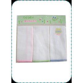【淘氣寶寶】DOOBY大眼蛙純白紗布手帕3入