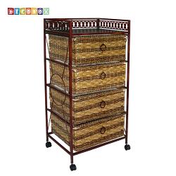 DecoBox四層收納活動櫃(衣物收納櫃,抽櫃,收納櫃,置物櫃,電視櫃)