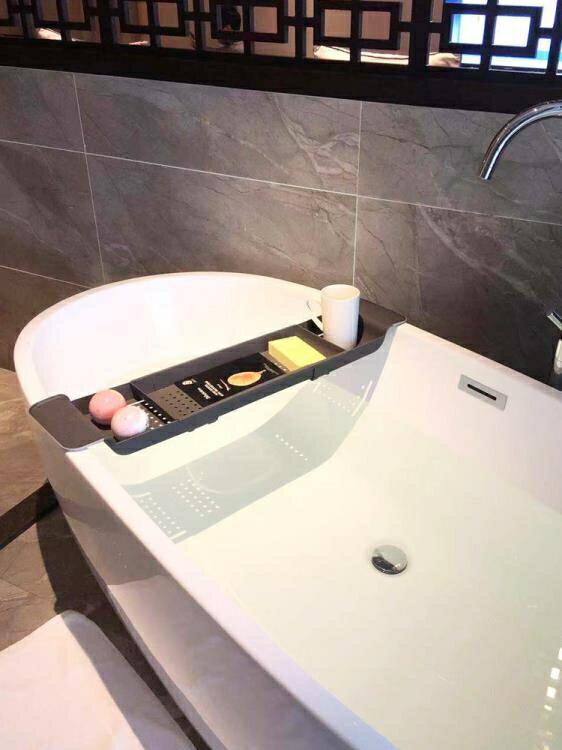 浴缸架 衛生間浴缸架多功能洗澡收納架可伸縮防滑塑料架泡澡置物架浴桶架  >>>新店開張全館五折<<<