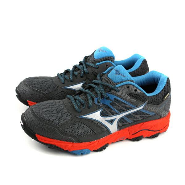 美津濃MizunoWAVEMUJIN5GTXGore-tex慢跑鞋運動鞋深灰色男鞋J1GJ185703no062