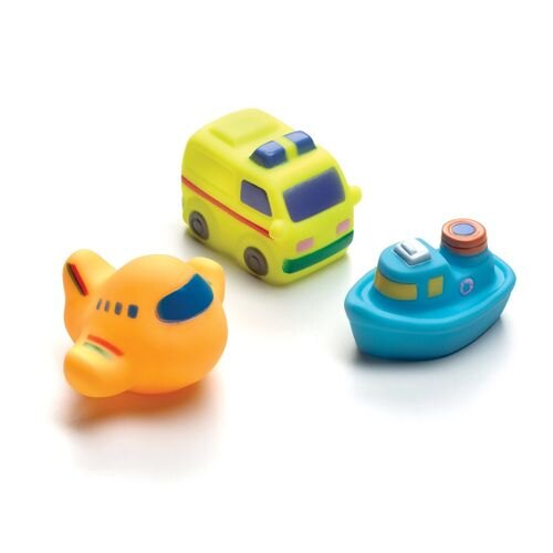 Playgro 軟膠洗澡組 交通工具 PG0183480