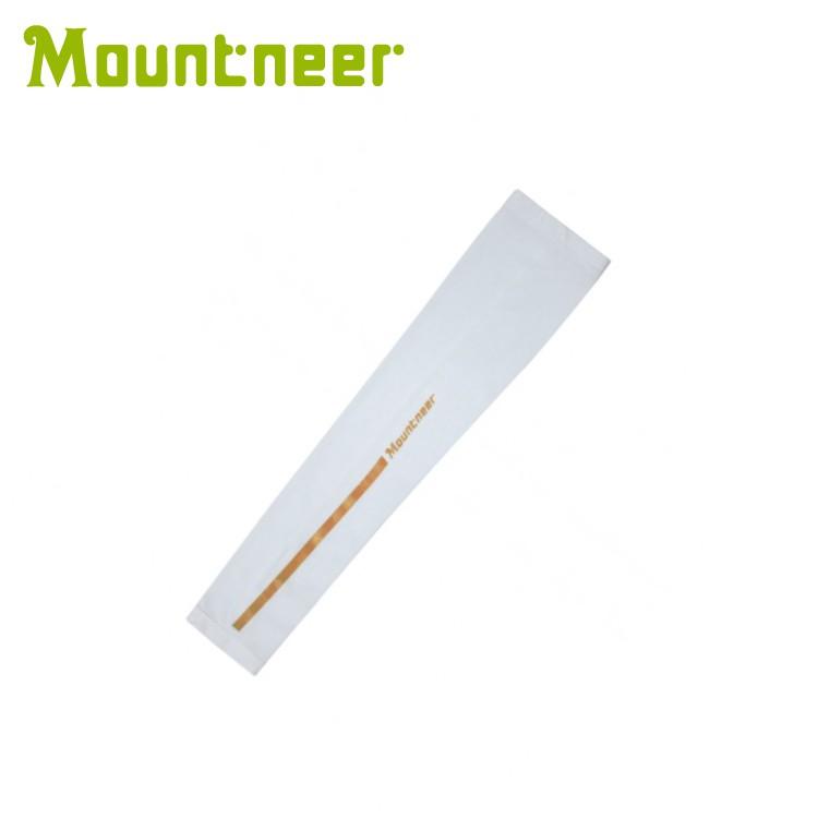 【【蘋果戶外】】山林 11K99-02 白色 Mountneer 中性款 抗UV冰涼反光防曬袖套 單車袖套 機車袖套