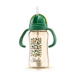 【淘氣寶寶】小獅王 辛巴 Simba PPSU自動把手滑蓋杯/水杯 240ml (迷彩) S8602