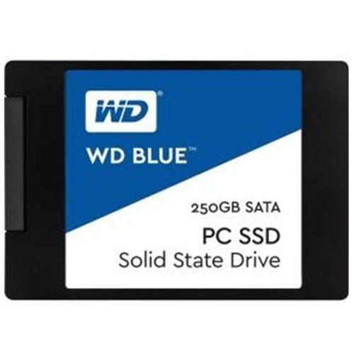 """WD Blue SSD 250GB 2.5"""" SATA III 6Gb/s 7mm Western Digital PC Internal Solid State Drive 540MB/s Maximum Read Transfer Rate 500MB/s Maximum Write Transfer Rate WDS250G1B0A"""