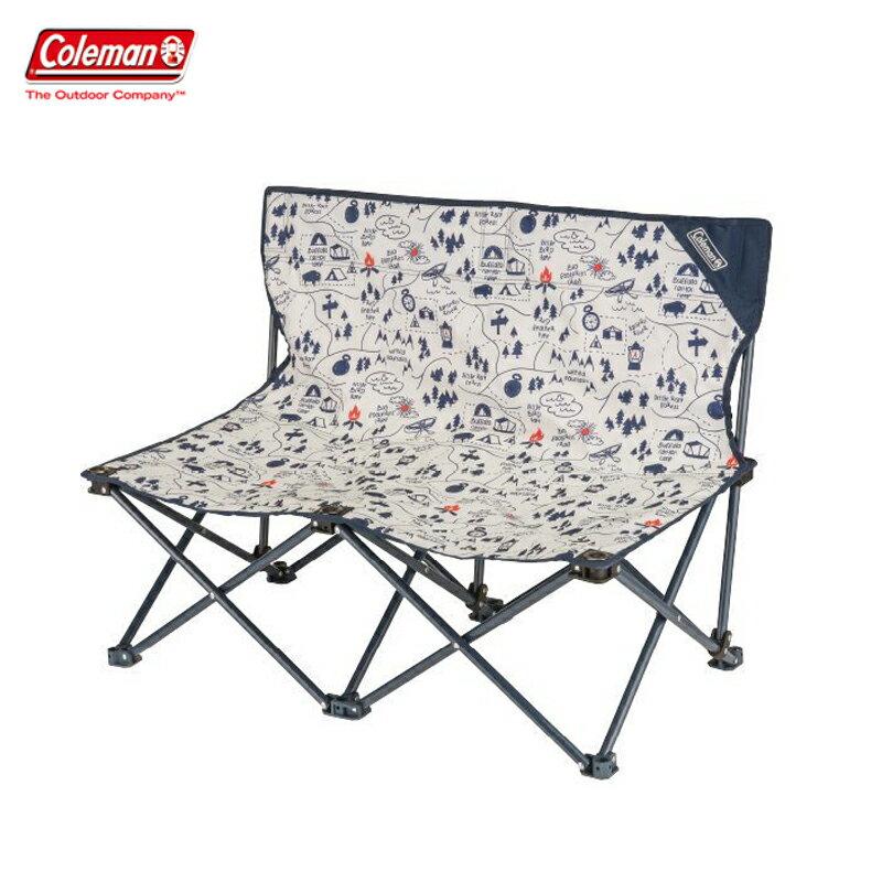 【露營趣】Coleman CM-33438 露營地圖情人椅 折疊椅 摺疊椅 休閒椅 對對椅 童軍椅