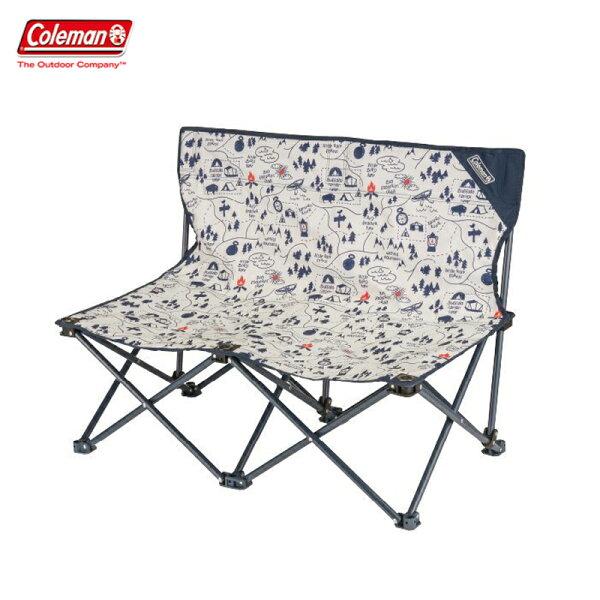 【露營趣】ColemanCM-33438露營地圖情人椅折疊椅摺疊椅休閒椅對對椅童軍椅