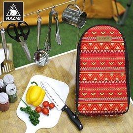 【【蘋果戶外】】KAZMI K5T3K008 印地安廚房用具8件組 民族風/攜帶式料理袋/飯匙剪刀湯杓/烹飪課廚房用具組合/野餐袋