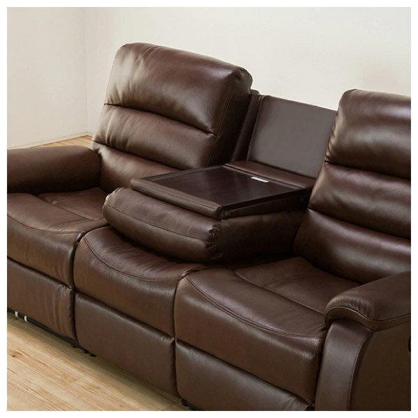 ◎(OUTLET)全皮3人用頂級電動可躺式沙發 BELIEVER ROYAL DBR 福利品 NITORI宜得利家居 6