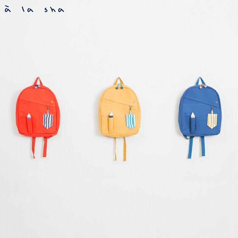 a la sha 鉛筆造型帆布後背包 3