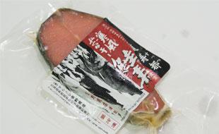 北海道產 ★頂級山漬鮭魚(夢幻鮭壽)-100公克/片 2