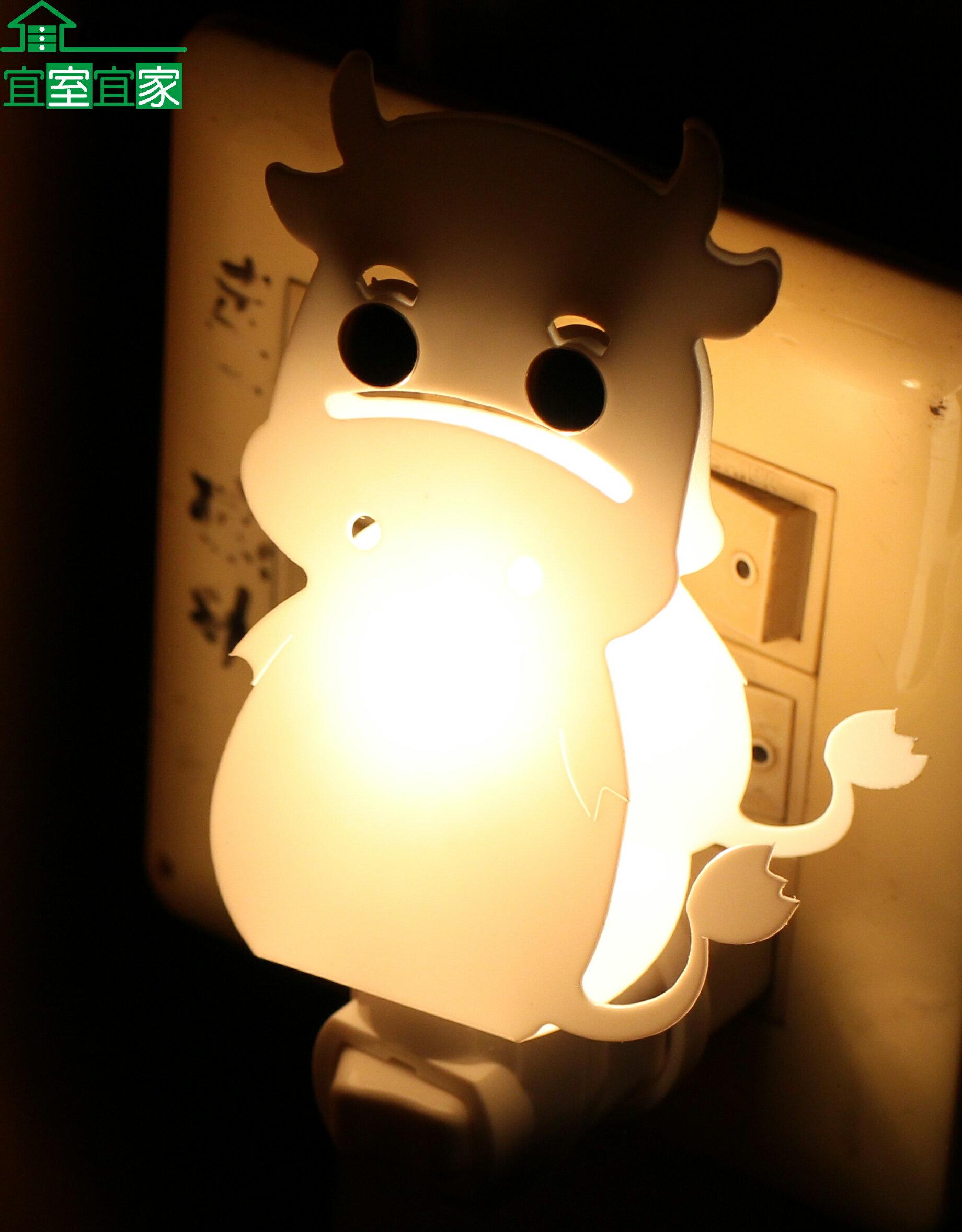 小夜燈 床頭燈 創意 造型 浪漫 夜生活 送禮 MIT 台灣製 小牛造型(坐姿)【宜室宜家CYF19B】