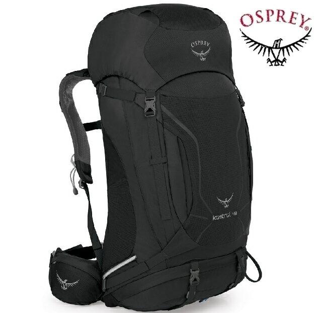 Osprey Kestrel 48 小鷹輕量登山背包/健行背包 附贈背包套 新款 48升 灰黑/台北山水