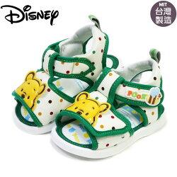 EMMA商城~童鞋 迪士尼Disney維尼熊可調整嗶嗶鞋.寶寶鞋 綠色13-15號