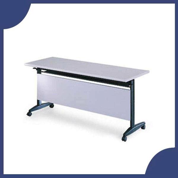 『商款熱銷款』【辦公家具】AT-1560G灰色折合式會議桌書桌鐵桌摺疊臨時活動