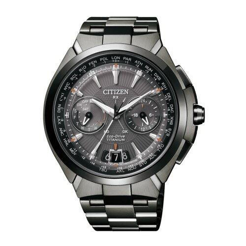 CITIZEN GENTS 全黑鈦金屬光動能衛星對時錶款/CC1085-52E