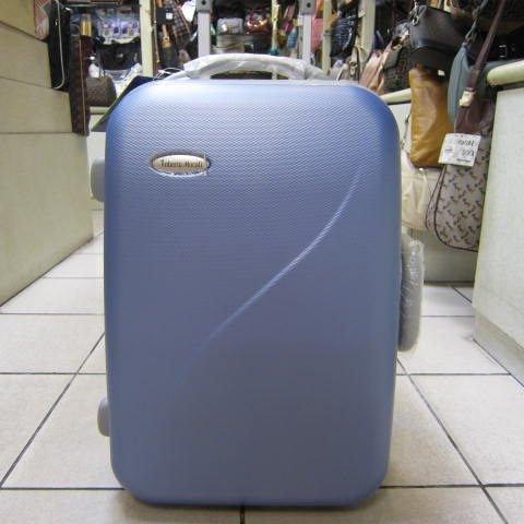 ~雪黛屋~Roberto 義大利 25吋硬殼行李拉桿箱單向輪大容量可登機ABS+PC超輕耐壓耐摔R-180 藍
