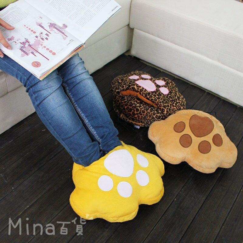 (mina百貨) 貓掌暖腳寶 暖腳器 暖手寶 電暖寶 靠枕 抱枕 可拆洗 USB充電 保暖 加熱【F0260】
