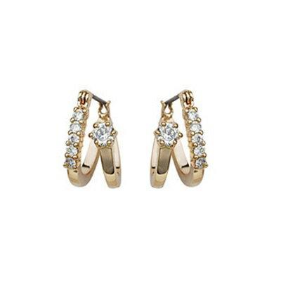 ~玫瑰金耳環925純銀水晶耳飾~奢華耀眼極致華麗生日情人節 女飾品2色73gs152~ ~