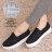 格子舖*【AS973】經典嚴選菱形車線 舒適V口鬆緊厚底懶人鞋 鬆糕鞋 帆布鞋 2色 0