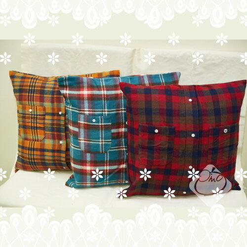 【日本】蘇格蘭格紋抱枕套/蘇格蘭/格紋抱枕/抱枕套/寢具/抱枕/靠枕╭。☆║.Omo Omo go物趣.║☆。╮