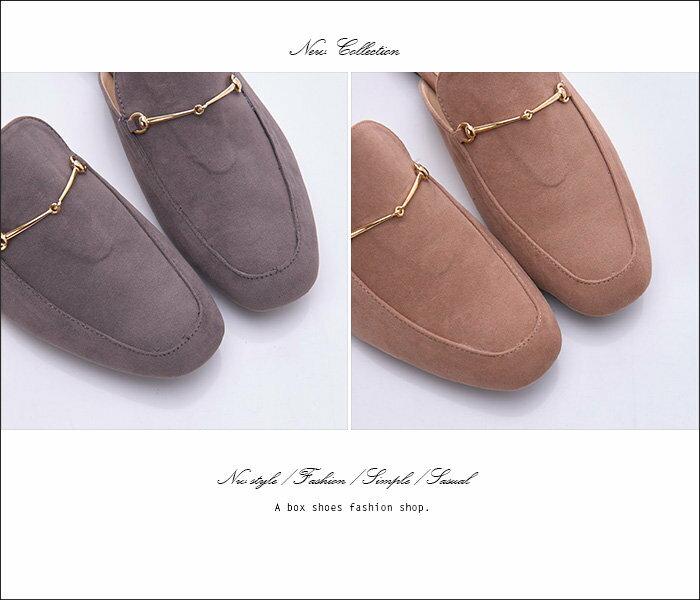 格子舖*【KW720】MIT台灣製 時尚絨布 外出/室內兩用拖鞋 1.5CM粗低跟 半包拖鞋 穆勒鞋 3色 2