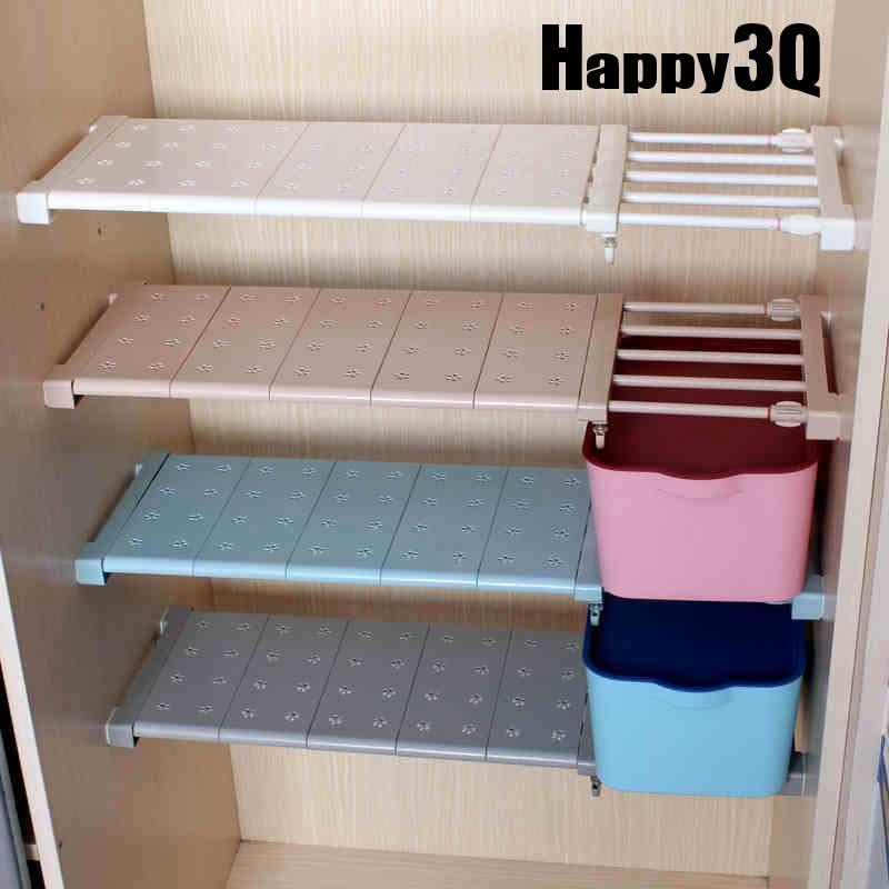 置物架整理架衣櫃收納分層隔板櫃子櫥櫃浴室層架隔層架長寬多規格可伸縮~多色~AAA0366~