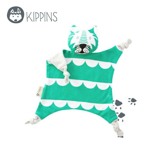 YODEE 優迪嚴選:Kippins澳洲有機棉安撫巾動物造型安撫巾–綠色小老虎DashKIPPIN