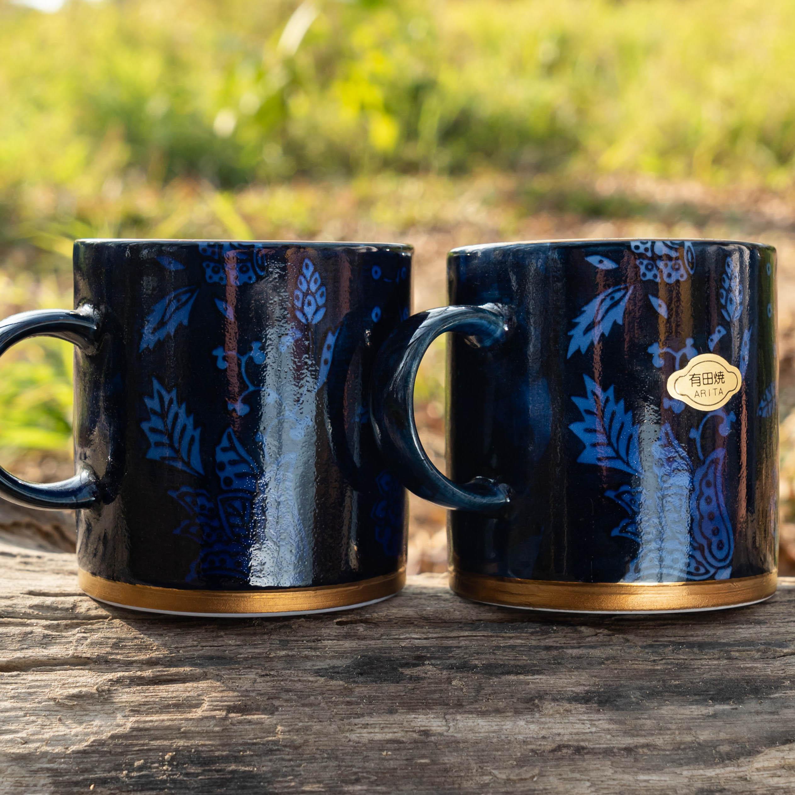 有田燒藍金馬克杯/日本進口/有田燒/美濃燒/咖啡杯/水杯/陶瓷馬克杯/牛奶杯