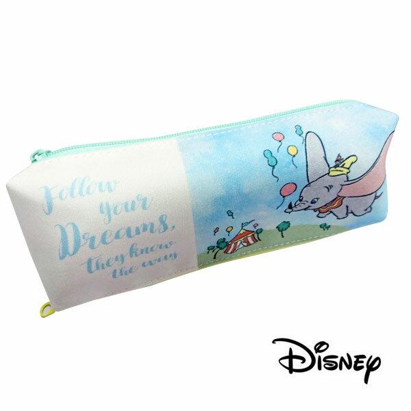 【日本進口】小飛象 Dumbo 雙層筆袋 鉛筆盒 迪士尼 Disney - 523491