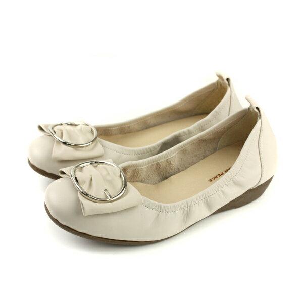 HUMANPEACE平底鞋包鞋米白色女鞋no609