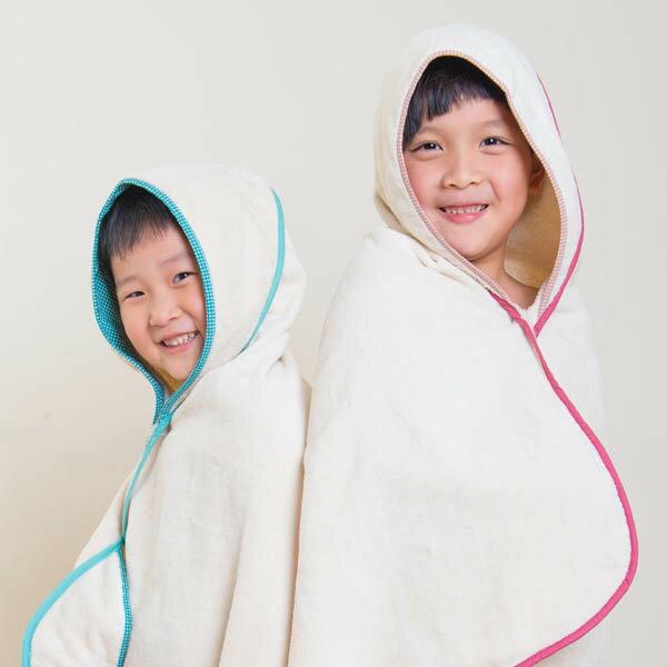 ollobaby瓦吉司 - Nizio - 多功能成長型浴巾 (藍綠點點) 7
