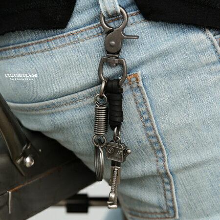鑰匙圈趣味立體機器人造型柒彩年代【NF82】腰間吊飾