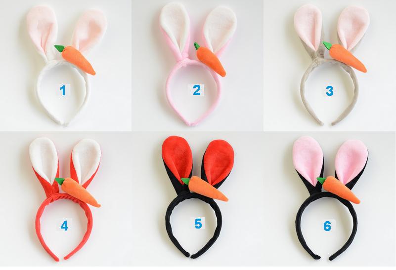 東區派對~萬聖節頭飾.動物方程式  朱迪兔  兔耳髮飾  兔耳髮箍  韓系胡蘿蔔兔耳髮箍