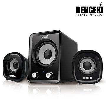 【迪特軍3C】電擊DENGEKI2.1聲道USB多媒體喇叭 冷光電源指示 高音質 重低音與音量控制 SK-827