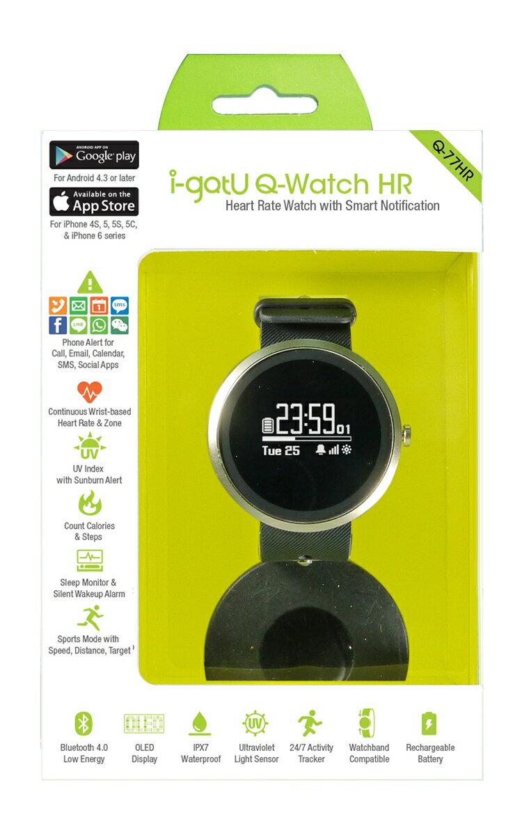 【迪特軍3C】i-gotU Q-Watch 藍牙腕式心率智慧健身手錶 – Q-77HR (42mm) 2