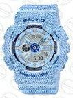 國外代購CASIO BABY-G BA-110DC-2A3 單寧 淺藍 雙顯 防水 手錶 腕錶 情侶錶