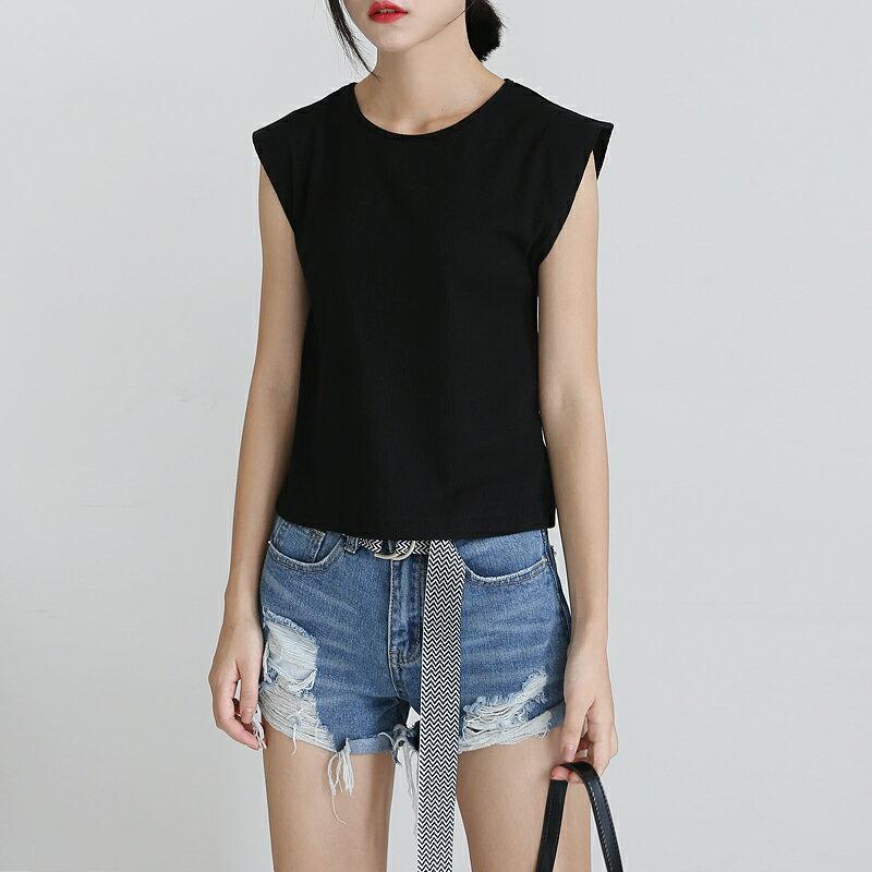 (全店一件免運! )韓版V字領寬鬆五分袖T恤/ 樂天時尚館