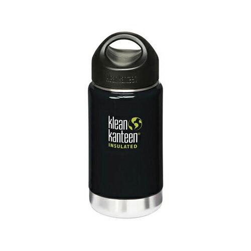 【Klean Kanteen】12oz不鏽鋼寬口環形蓋保溫瓶-日蝕黑