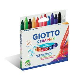 【義大利 GIOTTO】好清洗兒童專用蠟筆(12色)